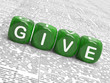 Give Dice Mean Be Generous And Contribute