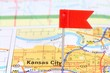 Kansas City, Missouri on a map