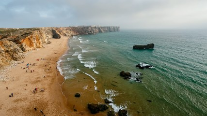 Tonel Beach and Sagres Fortress, Portugal