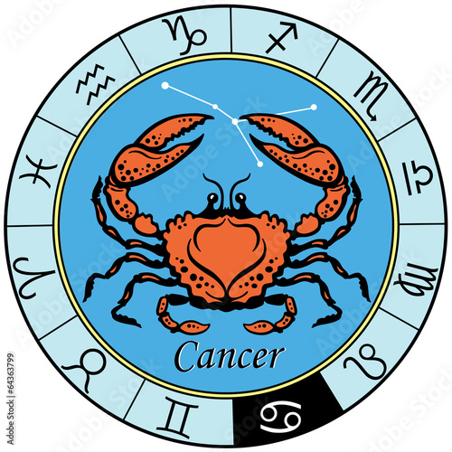 Fototapeta cancer zodiac sign