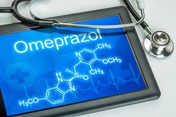Tablet mit der chemischen Strukturformel von Omeprazol