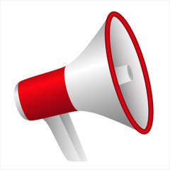 portable plastic red megaphone - communicate loud and be hear
