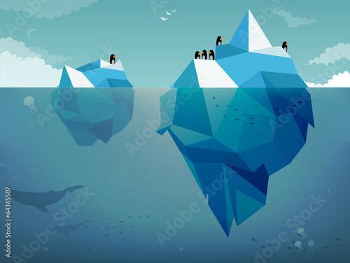 Iceberg & Penguins - 64365507