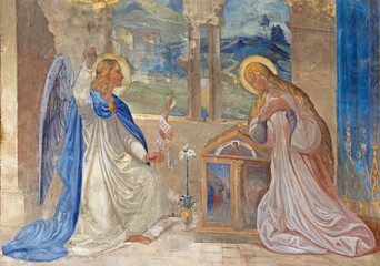 Roznava - Fresco of Annunciation in the cathedral