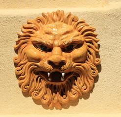 Ceramica artistica, testa di Leone