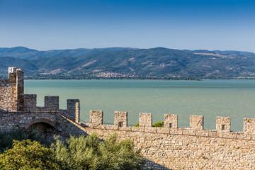 castle of Castiglione del lago, Trasimeno, Italy