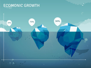 Iceberg business  infographics