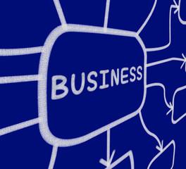 Business Diagram Shows Corporate Organization Or Enterprise