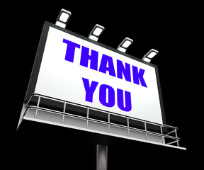 Thank You Sign Refers to Message of Appreciation and Gratefulnes