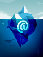 Iceberg business concept: Contact