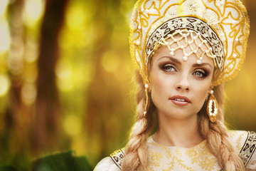 Beautiful Russian princess from a fairy tale