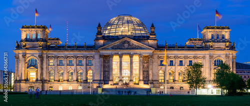canvas print picture Reichstag building in Berlin