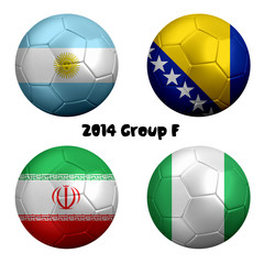 2014 FIFA World Cup Soccer Group F Nations