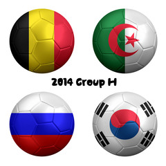 2014 FIFA World Cup Soccer Group H Nations