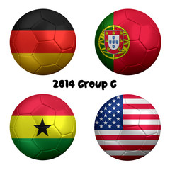 2014 FIFA World Cup Soccer Group G Nations
