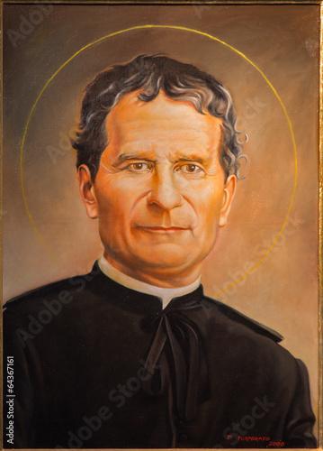 Zdjęcia na płótnie, fototapety, obrazy : Bologna - portrait of Saint Don Bosco in st. Peters church