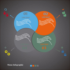 Menu Circulos Infographics