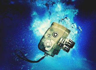 movie camera underwater