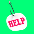 Help On Hook Means Customer Support Or Assistance