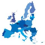 vector mape of european union borders