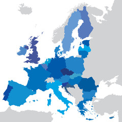 vector mape of european union borders