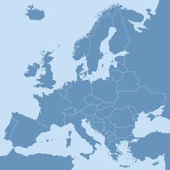 vector mape of european borders