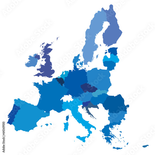 vector mape of european union borders - 64369100
