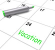 Vacation Calendar Shows Day Off Work Or Holiday