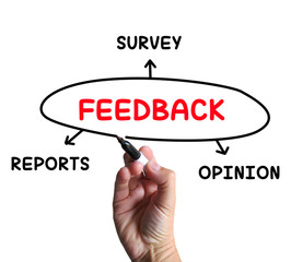 Feedback Diagram Means Reports Criticism And Evaluation