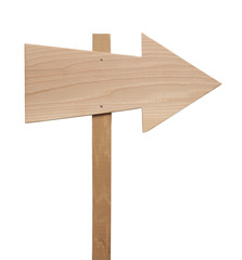 Wood Arrow Sign
