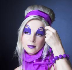 Girl in violet