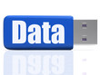 Data Pen drive Shows Digital Information And Dataflow