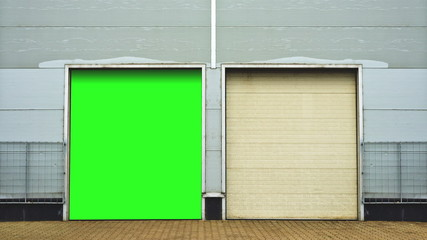 Industrial Unit with roller shutter door. Warehouse storage door