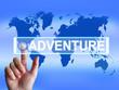 Adventure Map Represents International or Internet Adventure and
