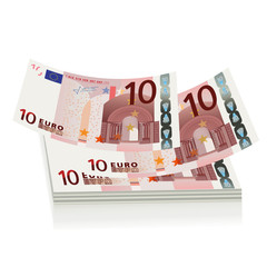 flying euro bills, the concept of success