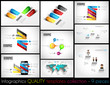 Collection of 9 quality Infographic Templates.
