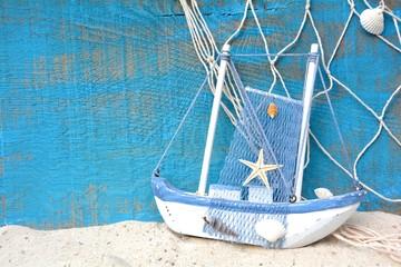 Hintergrund - Boot mit Fischernetz