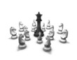 protection, conflict concept with chess pieces
