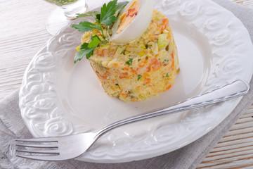 Polish vegetable salad