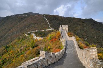 la grande muraille de chine à Mutianyu