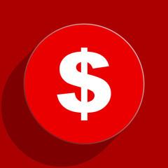 dollar web flat icon