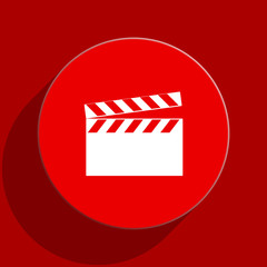 video web flat icon