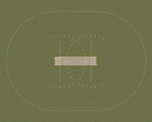 Cricket Field Layout