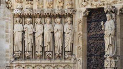 Jesus and disciples at Notre Dame de Paris, France