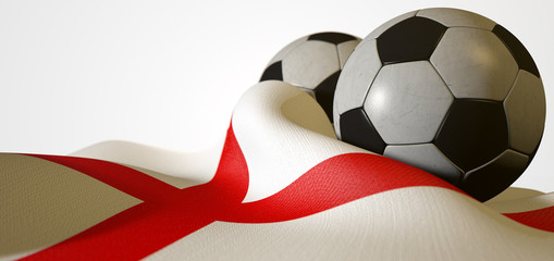 England Flag And Soccer Ball