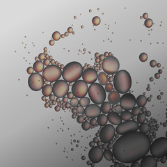 oil drops in the gray water vector background