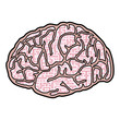 Brain creative design vector