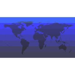 Blue World Map Vector