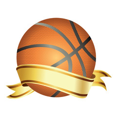 Basket ball with banner