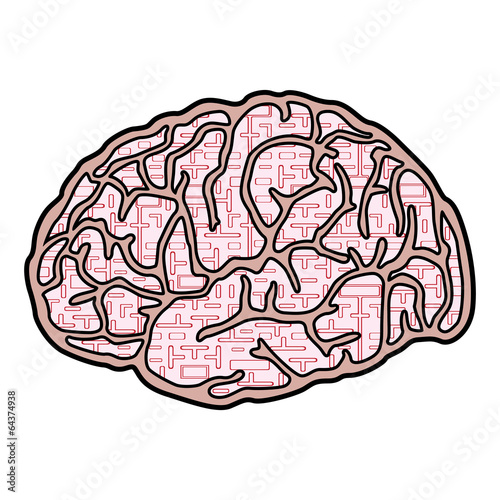 Brain creative design vector